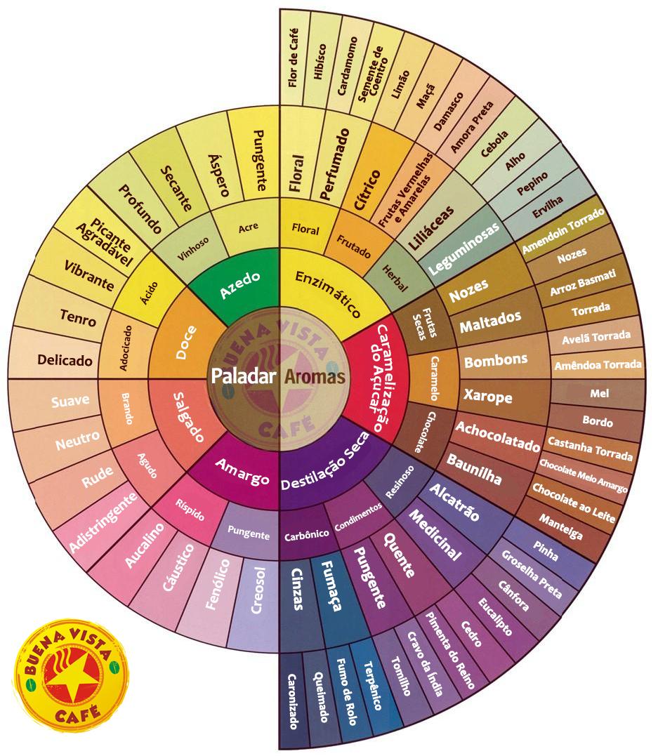 Roda de Aromas e Sabores da SCAA
