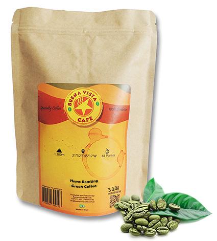 Pacote de café verde Buenavista Café para Home Roasting.