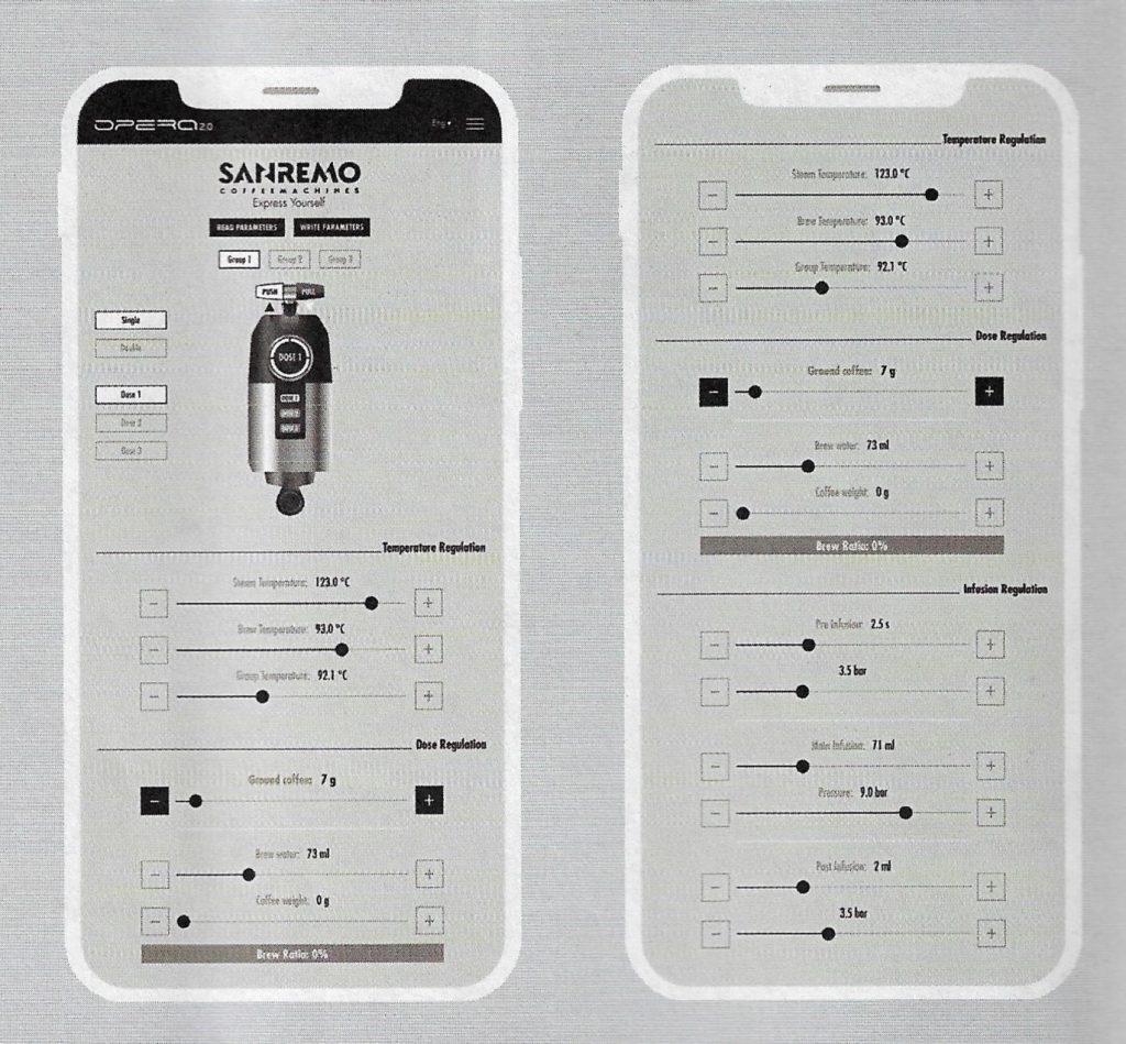 Detalhes do App do modelo Opera 2.0 Wi-Fi